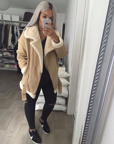 choose authentic top-rated fashion exceptional range of styles Counting Sheep Shearling Coat