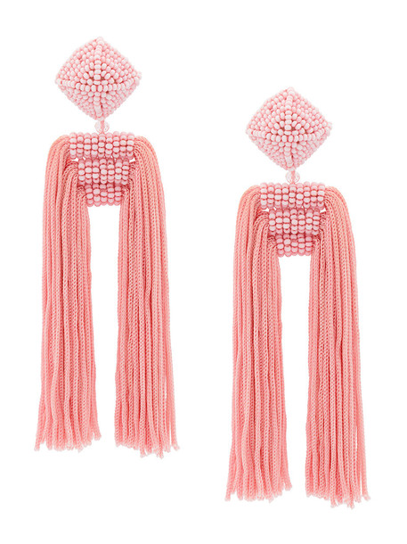 Sachin & Babi women earrings silk purple pink jewels