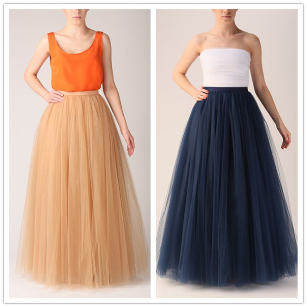 long skirt long skirt and fashion long tulle prom dress