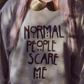 sweater american horror story clothes top normal people scare me shirt