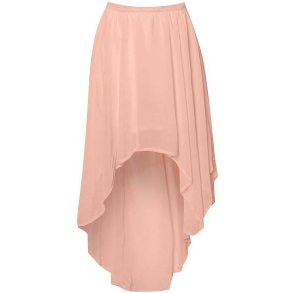 Glamorous Dip Hem Skirt - Polyvore