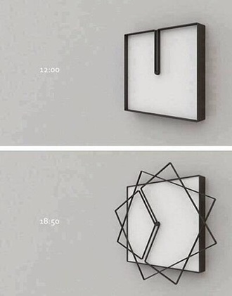 clock geometric home accessory