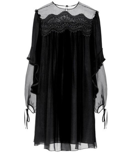 Chloe dress silk dress silk black