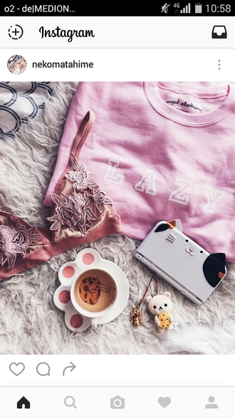 home accessory cats neko kitty mug cat mug mug coffee coffeee mug tea cute bra bralette rose lace cozy cozy sweater
