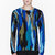 jonathan saunders blue multicolor abstract print colin sweater