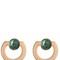 Moneta open stone earrings
