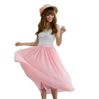 Amazon.com: Zehui Womens 5 Layers Tutu Princess Skirt Petticoat Knee-length Mini Dress Pink US S: Clothing