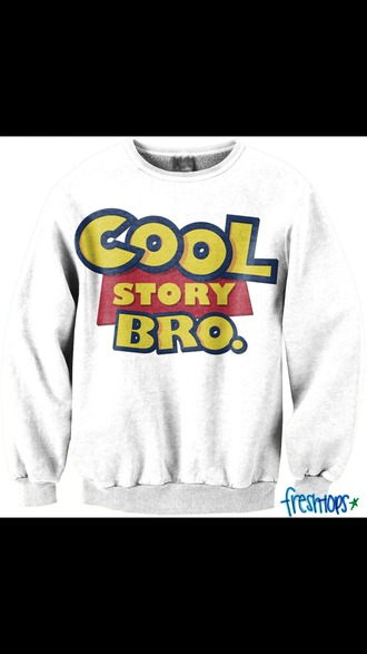 sweater toy story cool story bro cool story bro crewneck white sweater