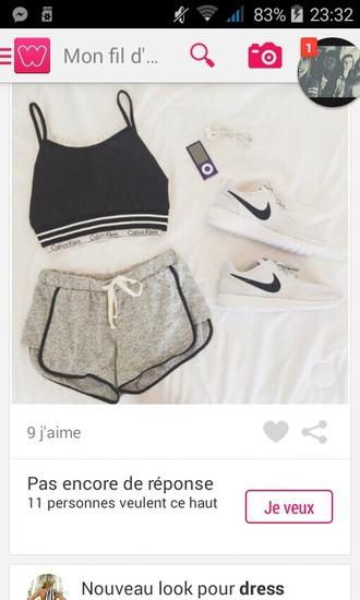 shorts short braci?re calvin klein gris grey sports shoes sportswear nike nike running shoes nike shoes