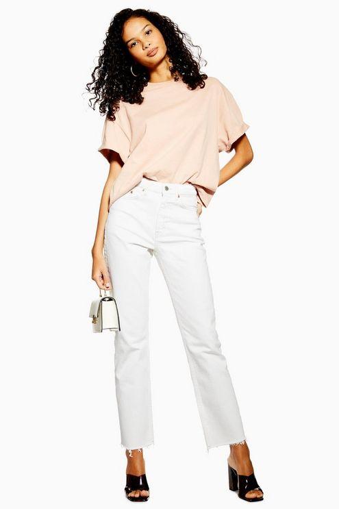 Off White Straight Jeans - White