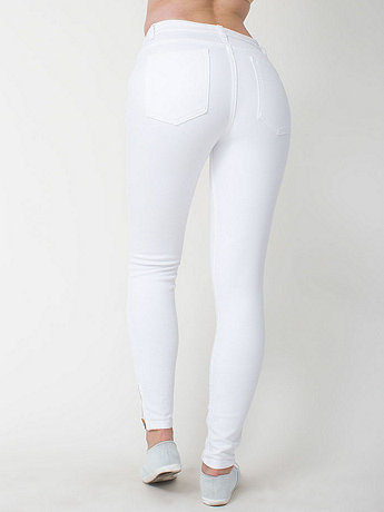 Stretch Bull Denim Side Zip Pant | American Apparel