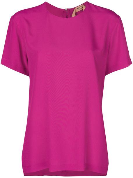 top back women silk purple pink