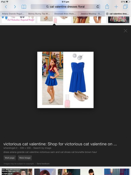 dress blue ariana grande victorious
