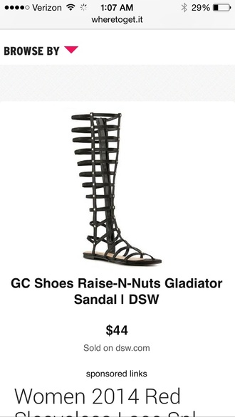 shoes knee high gladiator sandals