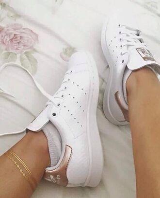 shoes gold stan smith adidas white stan smiths white gold bronze