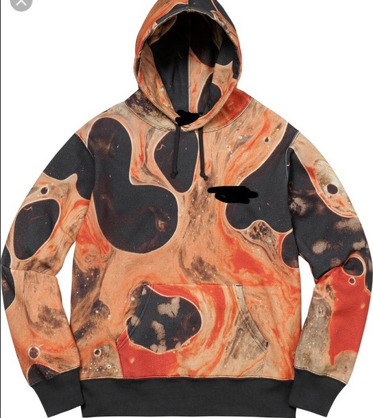 coat orange and black hoodie