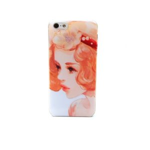 Amazon.com: hd cell phone case cover for apple iphone 5s design art paint painted hard orange flower girl: cell phones & accessories