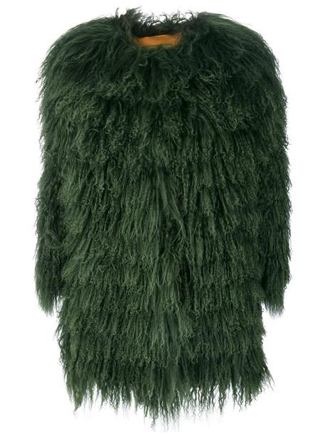Alessandra Chamonix coat fur fox women green