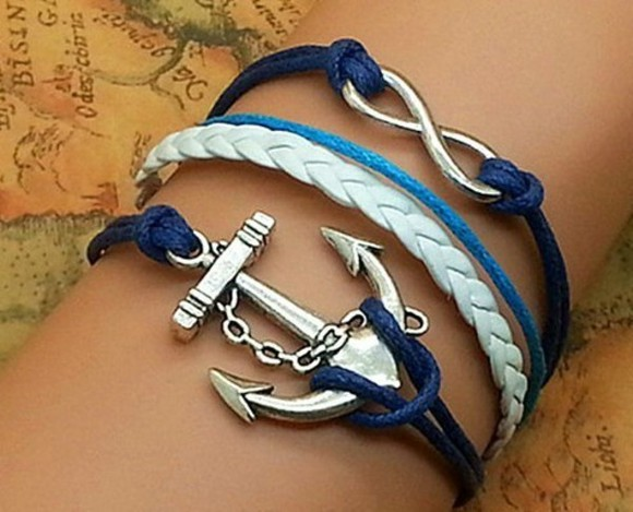 bracelet rope jewels blue
