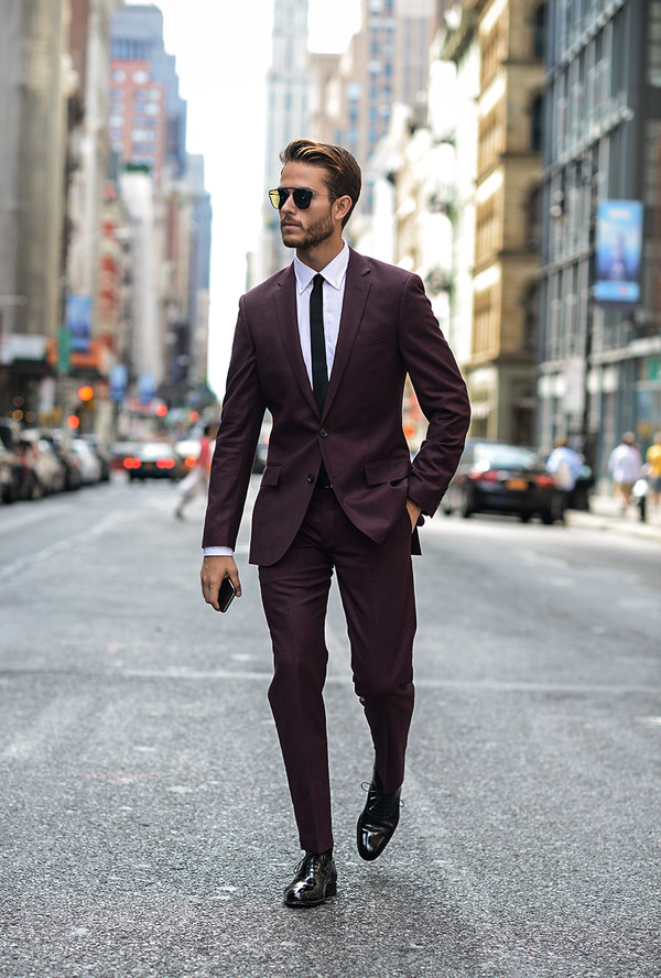 Burgundy Mens Suit - Shop for Burgundy Mens Suit on Wheretoget