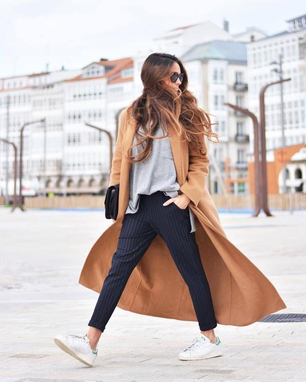 Coat: tumblr, camel, camel coat, camel long coat, long coat, top ...