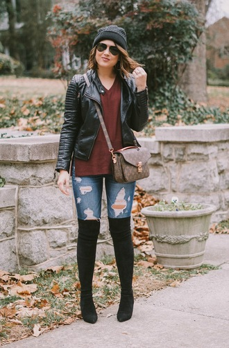 life & messy hair blogger jacket sweater shoes hat jewels
