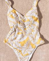 swimwear,yellow swimwear