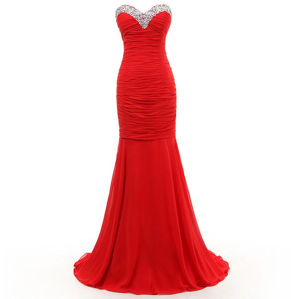 evening dress prom dress formal dress red dress sweetheart dress long prom dress graduation dresses bridesmaid