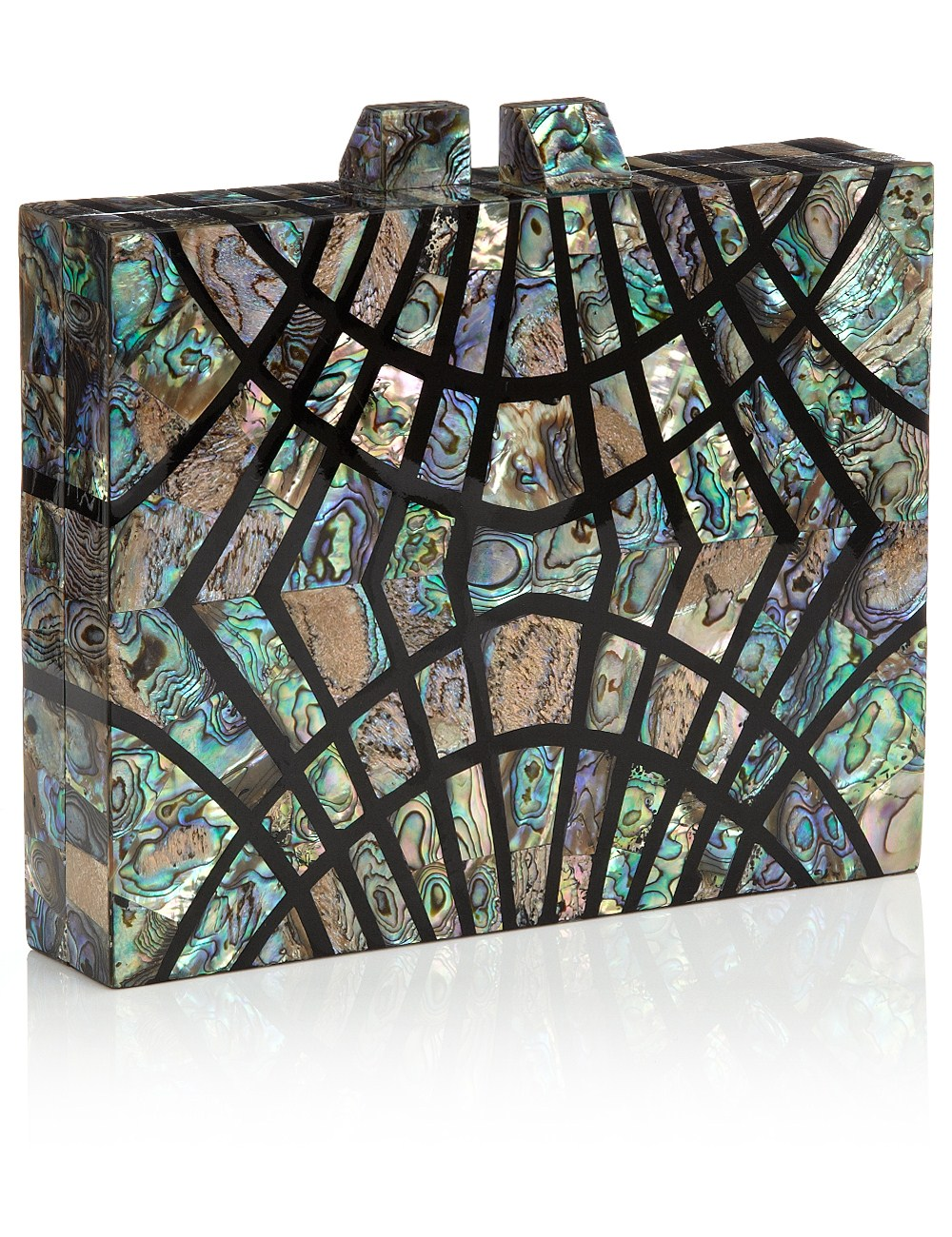 Pāua blue shell ferris clutch