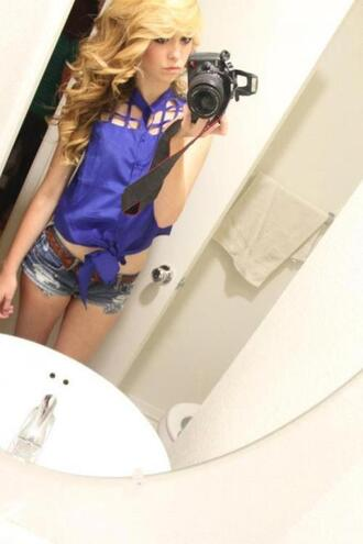 blouse girl blue cute acacia brinley beautiful crop tops