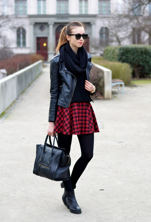 vogue haus sweater skirt jacket scarf shoes bag jewels sunglasses
