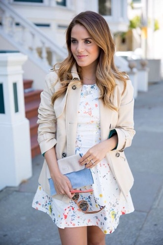 dress cute painting white dress jacket cute dress colorful splatter paint short dress little white dress
