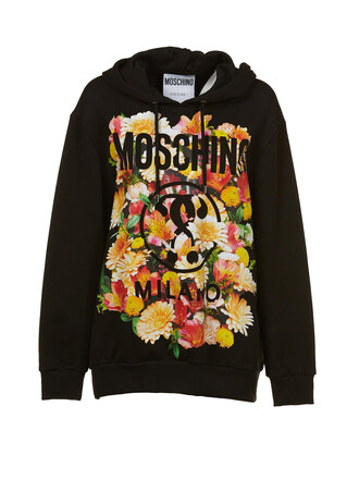 hoodie oversized floral multicolor sweater