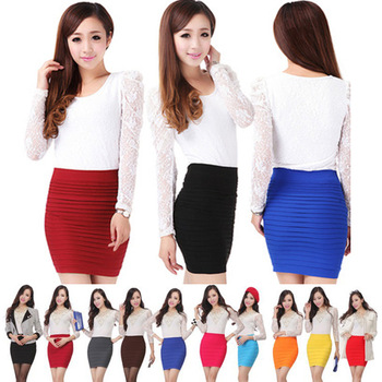 2014 new Summer spring pleated skirt high waist bust above knee mini lady or women fashion short skirt hot sale 16 colors DR 32-in Skirts from Apparel & Accessories on Aliexpress.com