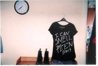 top smells like teen spirit smells black noir shirt tshirt.
