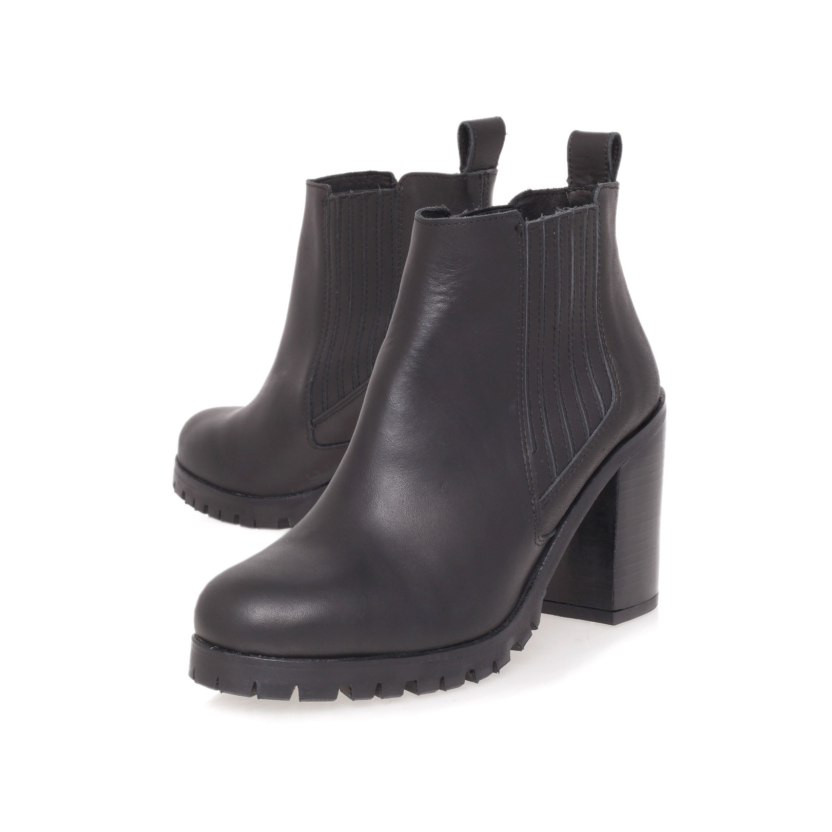 Kurt Geiger | STAR Black High Heel Ankle Boots by KG Kurt Geiger