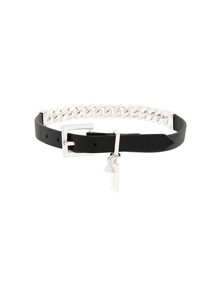 Coup De Coeur women necklace silver leather black jewels