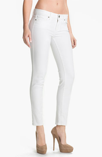 PAIGE 'Skyline' Ankle Peg Skinny Jeans (Optic White) | Nordstrom