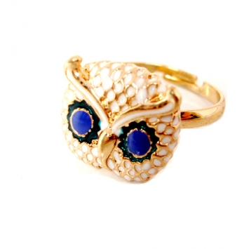 Adjustable Gold Color Cute Owl Ring