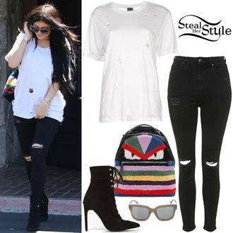 jeans blouse t-shirt heels boots shoes black jeans tumblr shirt shoes black grunge flat shirt