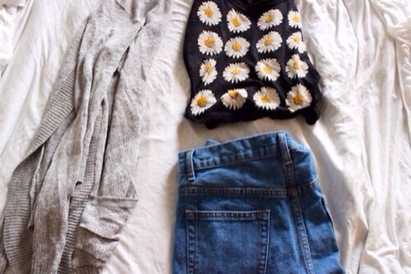 shirt tumblr daisy t-shirt flowers daisy