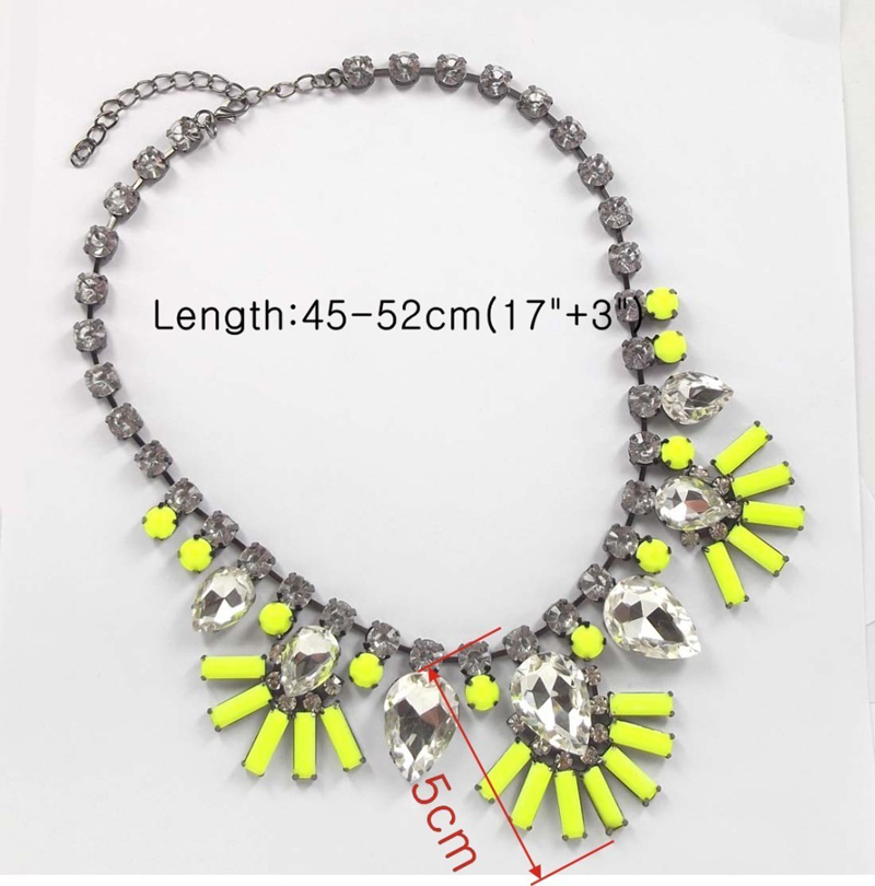 Fashion Luxury Golden Neon Yellow Flower Resin Bib Statement Necklace Collar | eBay