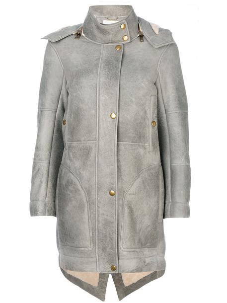 Chloe coat oversized women grey