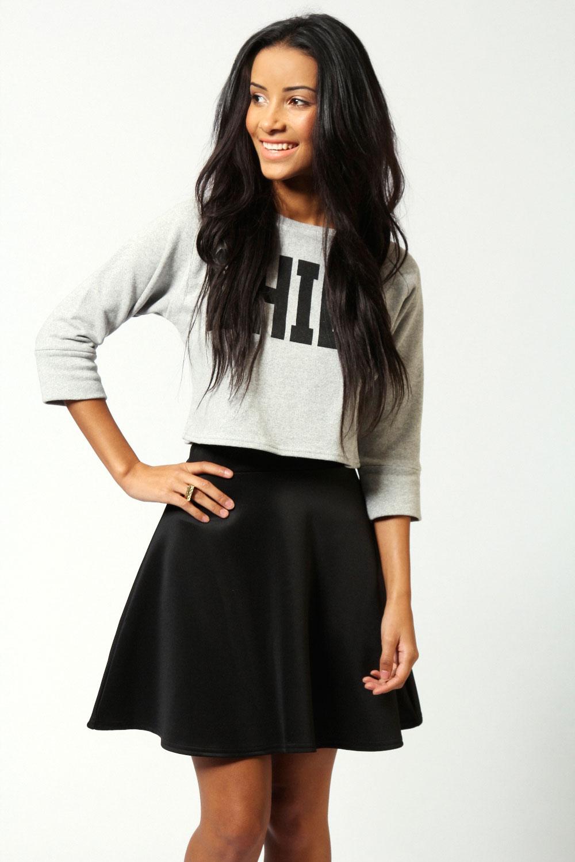 Boohoo Jessica Scuba Skater Skirt | eBay