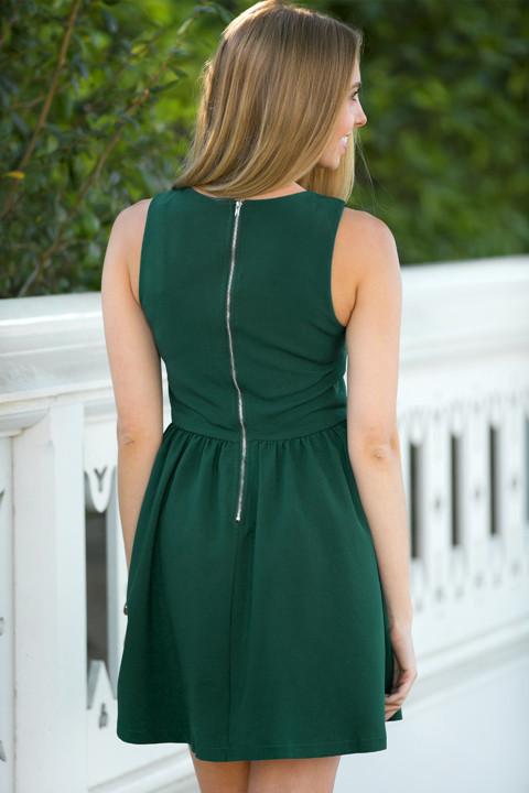 Emerald Crown Jewel Day Dress