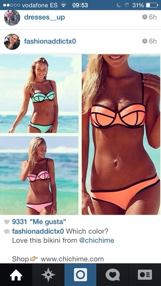 swimwear triangle bikini cheaper version please cheaper mint pink orange swimwear