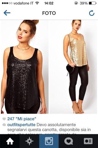 shirt paillettes top