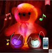 home accessory,dejavu cat,stuffed animal,plush teddy bear,plushie,musical teddy,musical bear,led teddy,led plushie,cute,kawaii,toy,kawaii home decor,harajuku,pink,bear,teddy bear,storenvy,dejavucat,light up teddy