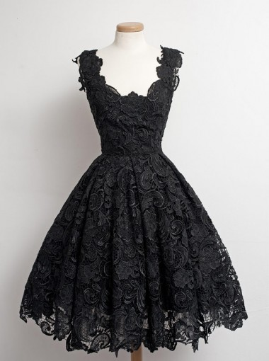 buy simpledress 1950s vintage little black lace prom