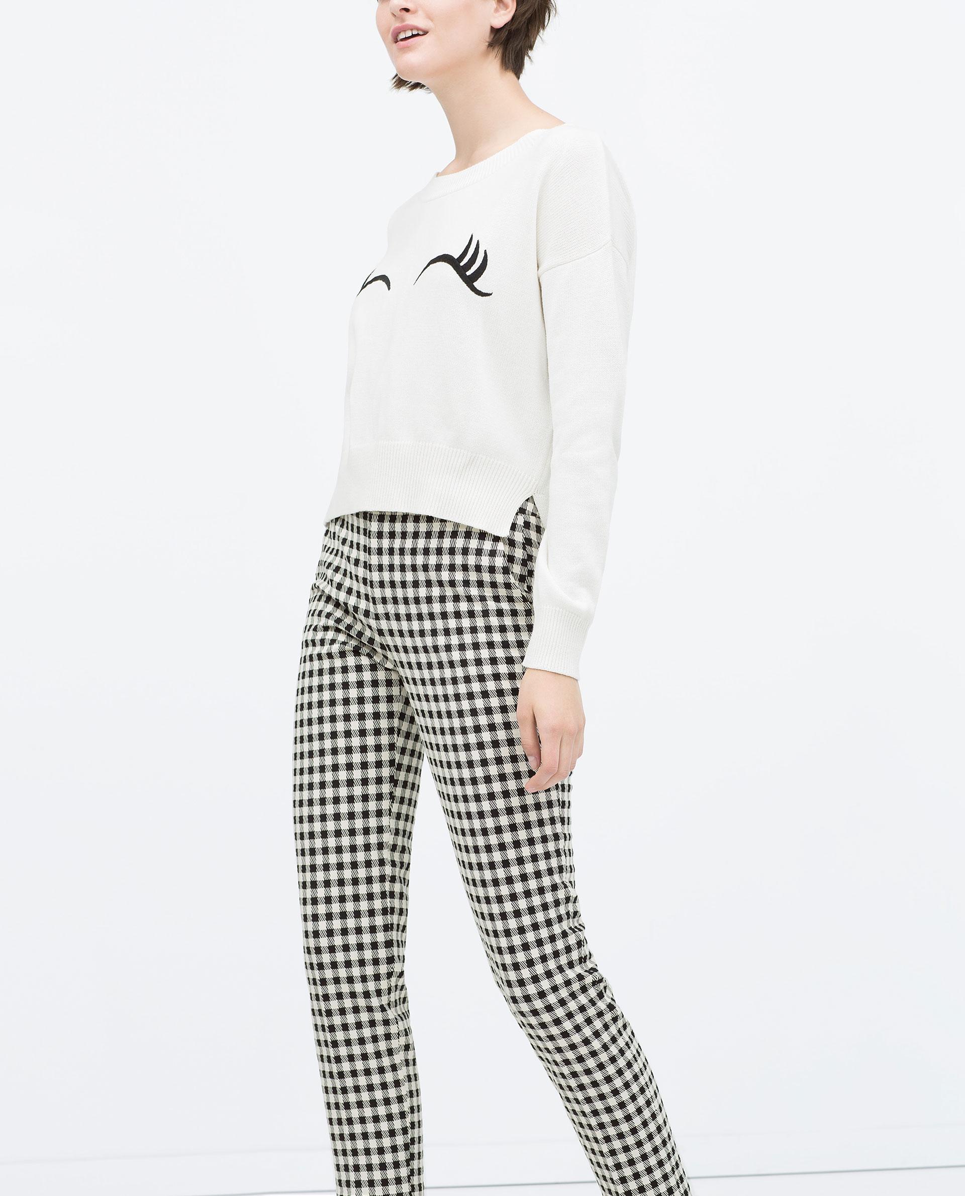 pantalon cigarette carreaux vichy pantalons femme